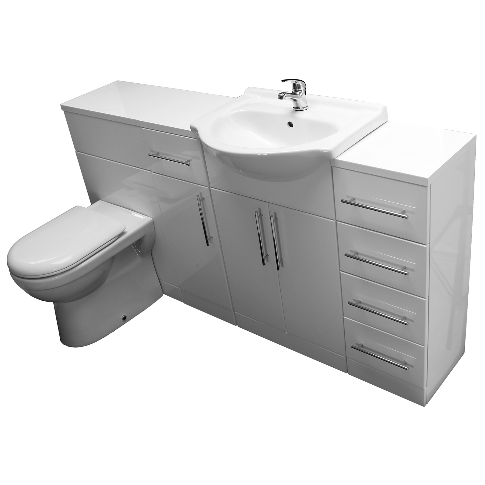 Allbits eden wc combination 550 vanity unit door draw units at allbits plumbing supplies for Bathroom combination vanity units