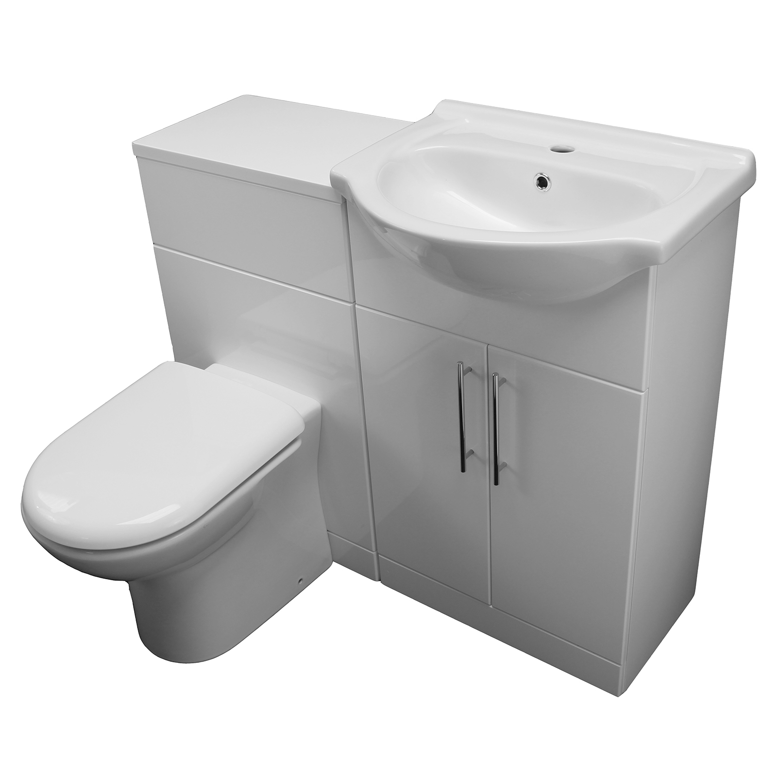 Allbits Eden White Gloss Wc Combination 550 Vanity Unit 163