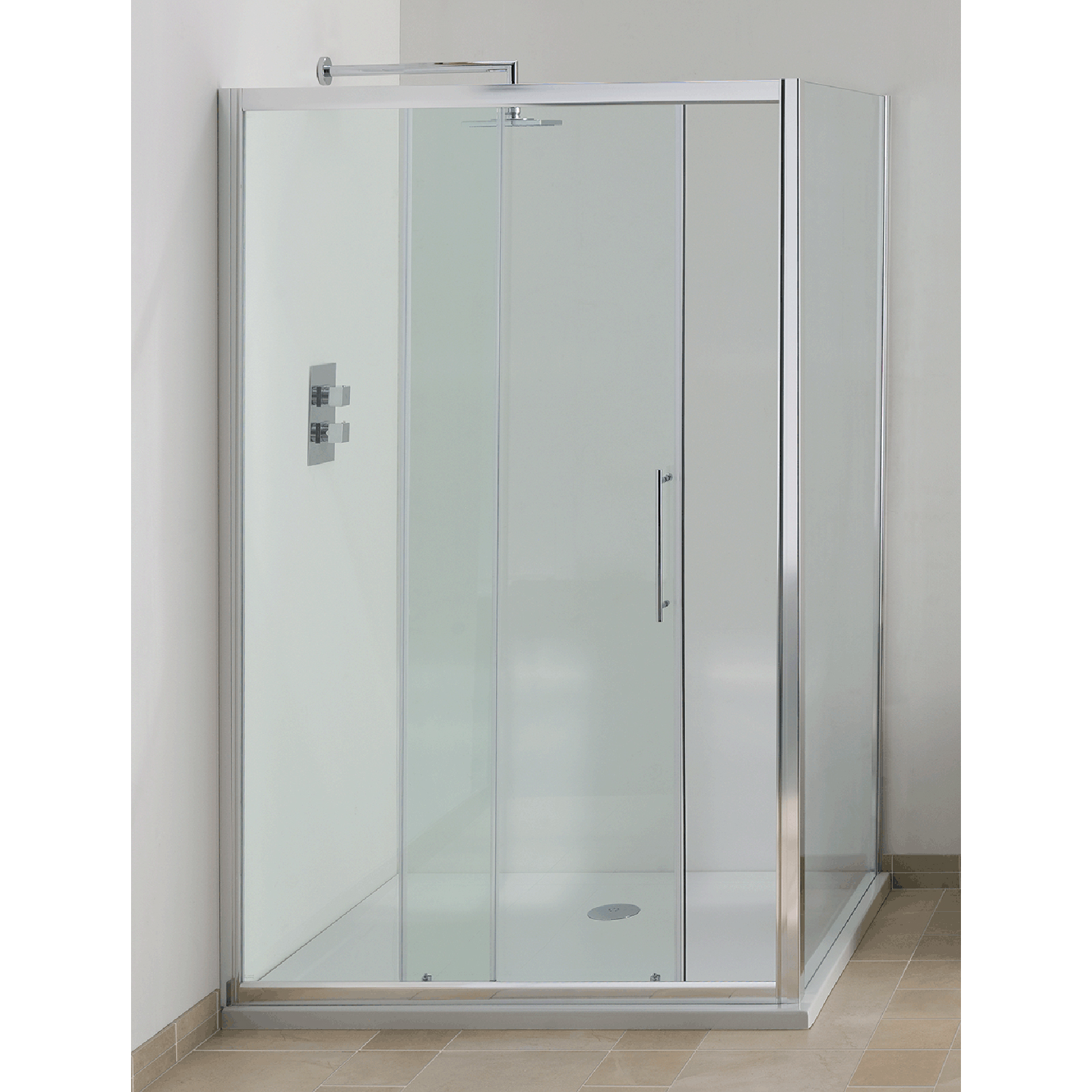 Allbits eden 6mm sliding shower door 1400mm at for 1400mm sliding shower door