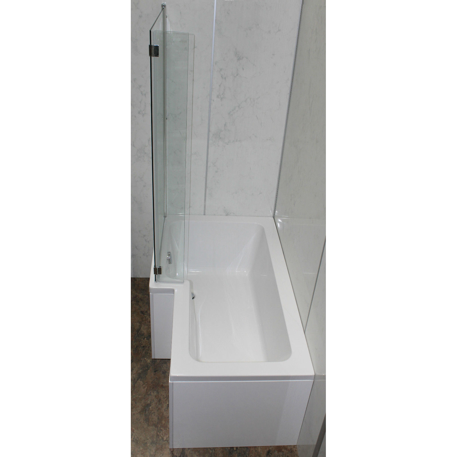 allbits 1500 l shape shower bath left hand 163 299 00 at