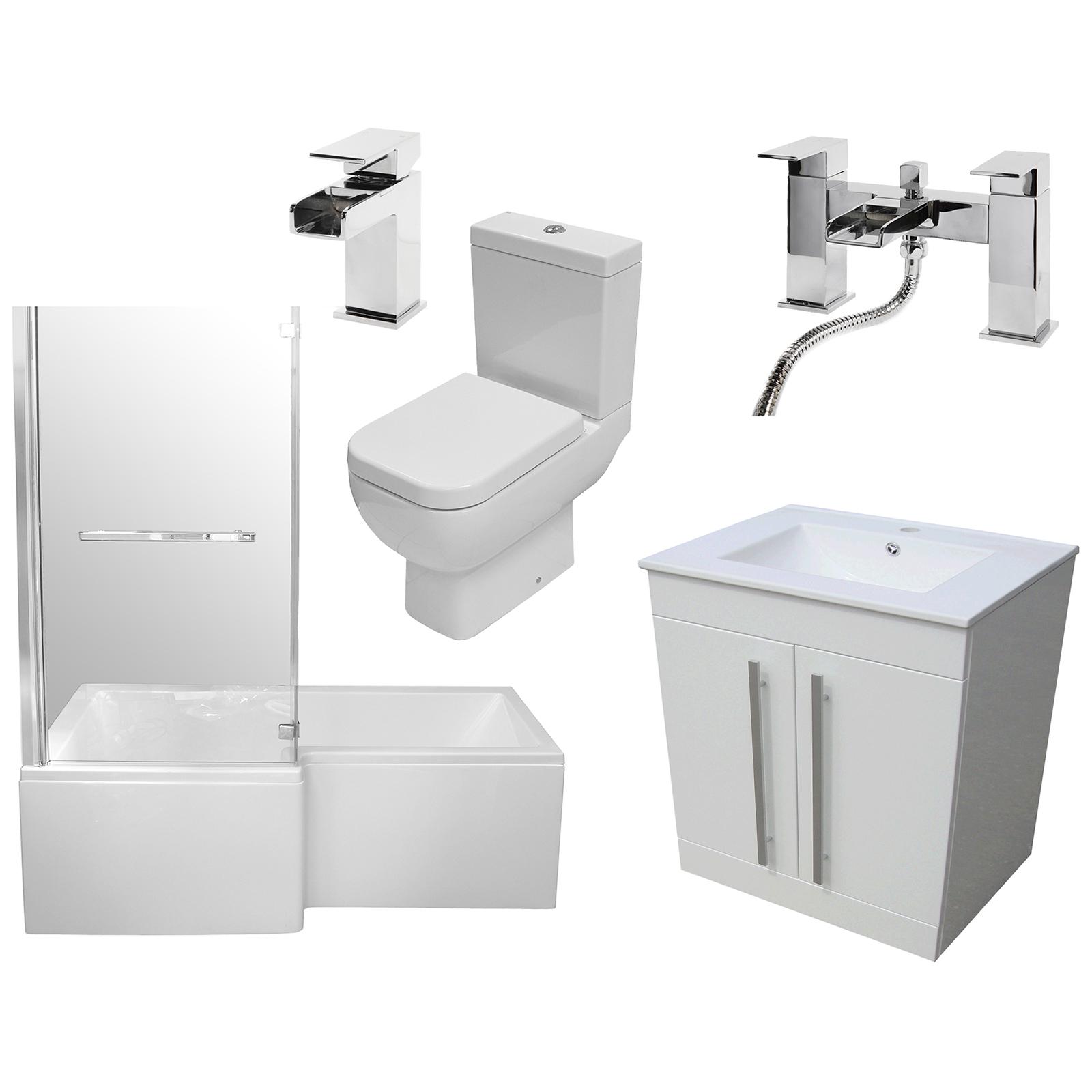 Allbits Square Shower Bath Vanity Suite LH £636.00 at Allbits ...