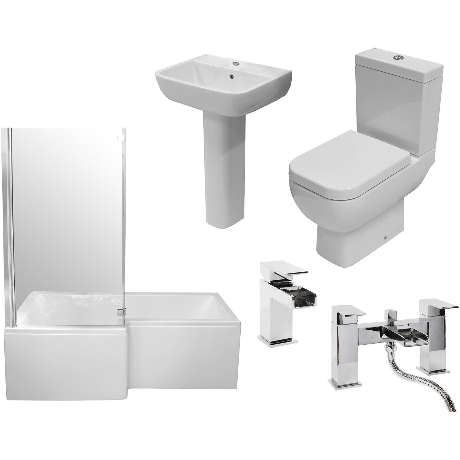 Allbits Square Shower Bath Bathroom Suite LH £647.97 at Allbits ...