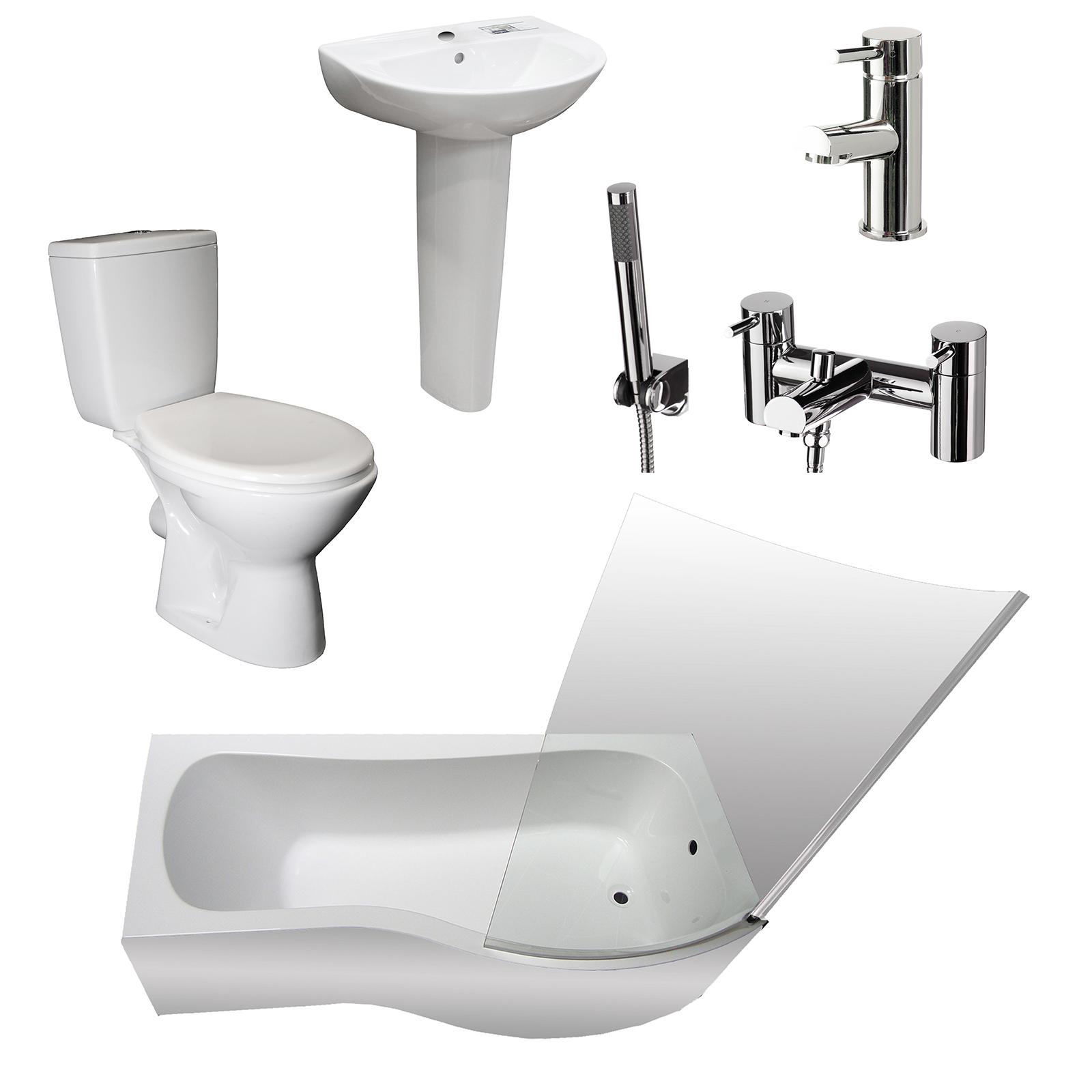 Tecaz bathroom suites - Affordable Allbits Plumbing Supplies Shower Bath Suites With P Shape Bathroom Suite
