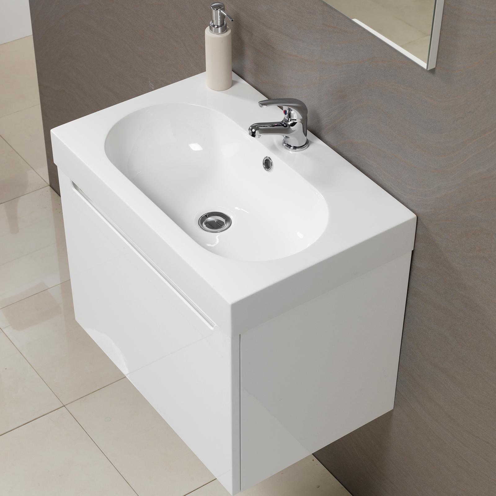 Radius 60 Wall Hung Vanity Unit Amp Basin With Tap Vanity Units With Tap Allbits Co Uk