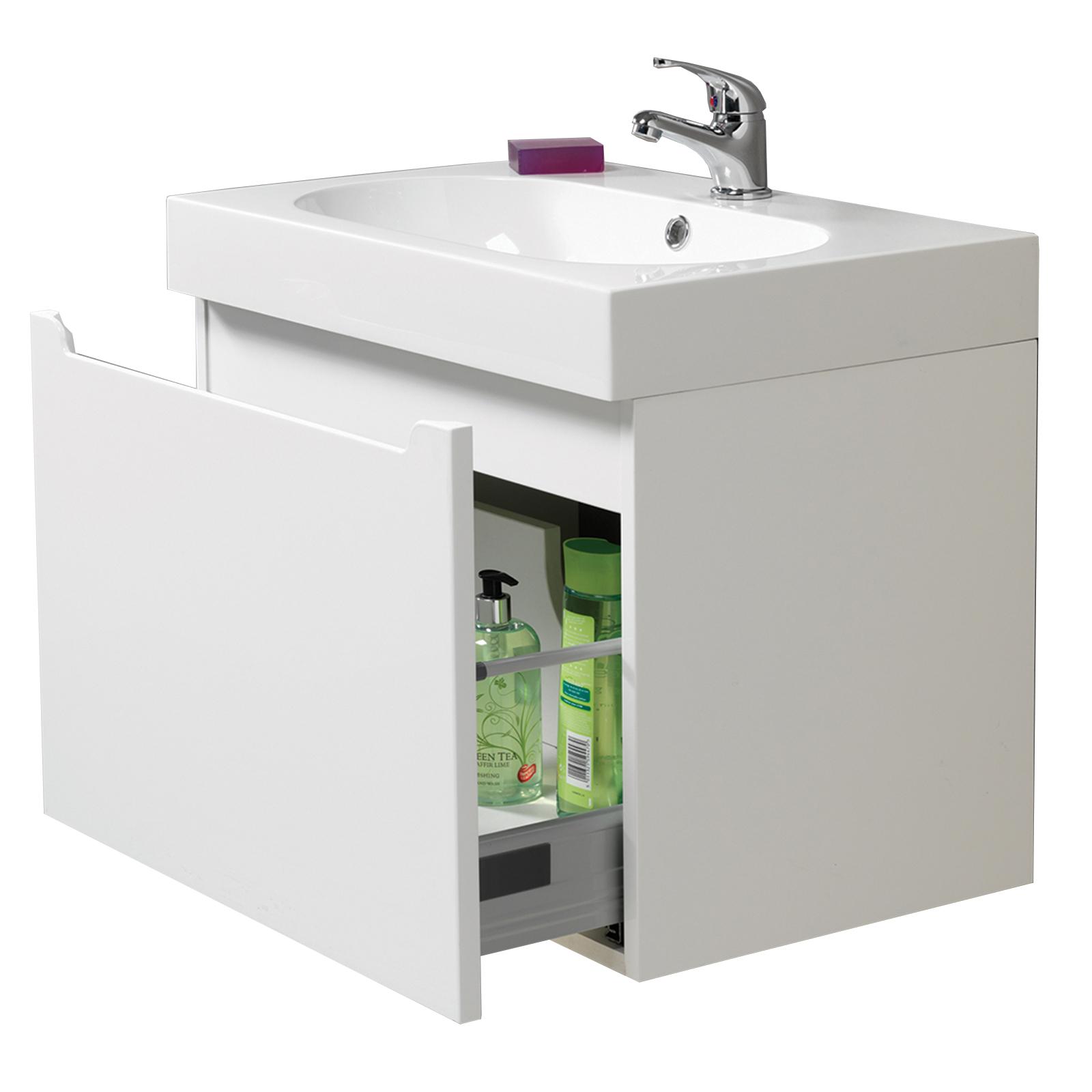 Radius 60 Wall Hung Vanity Unit Amp Basin With Tap 163 244 80