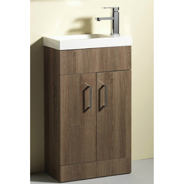 Allbits Eden 50 Slimline Vanity Unit & Basin with Tap - Walnut