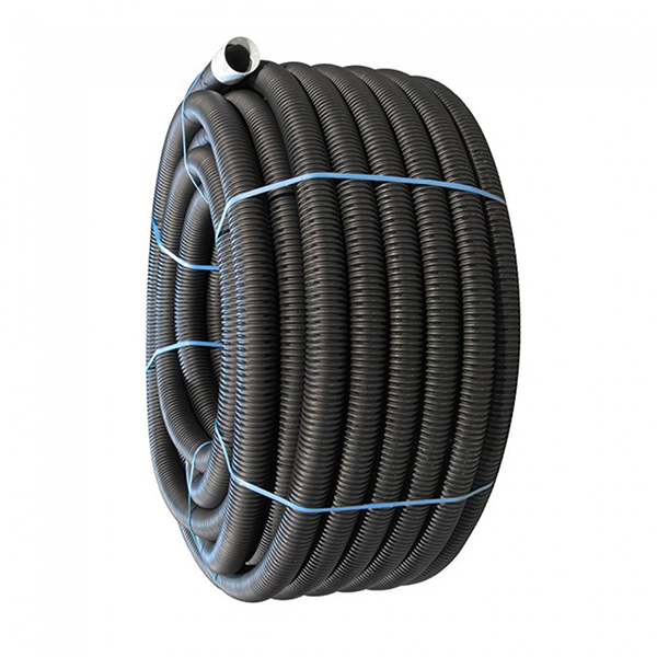 Perforated Land Drain - 80mm (O.D.) x 100mtr Coil