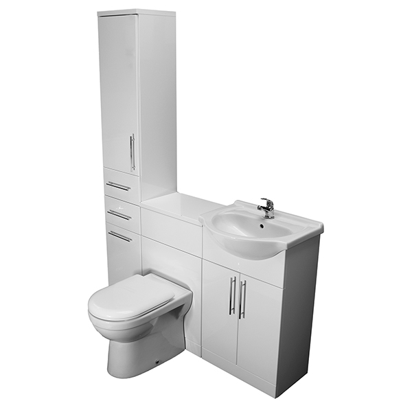 Allbits Eden WC, 550 Vanity and Tall Unit Combination