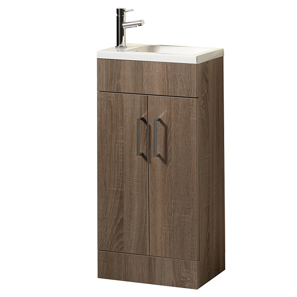 Eden 40 Vanity Unit & Basin with Tap - Walnut