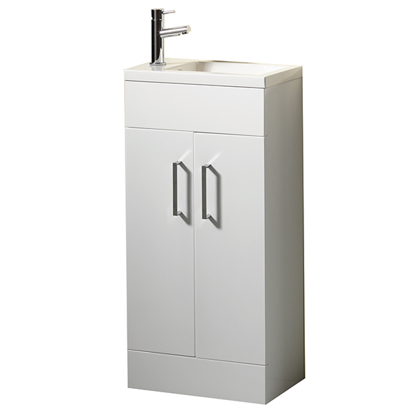 Allbits Eden 40 Vanity Unit & Basin with Tap - White