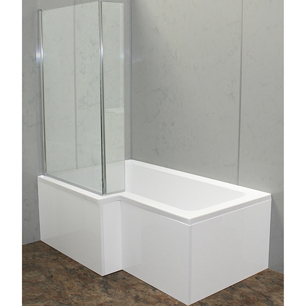 Allbits 1700 L Shape Shower Bath Left Hand