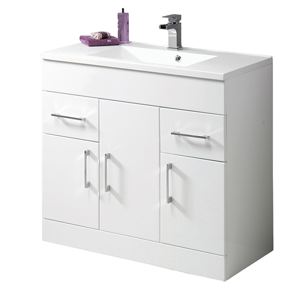 Monica 90 Vanity Unit & Basin with Tap