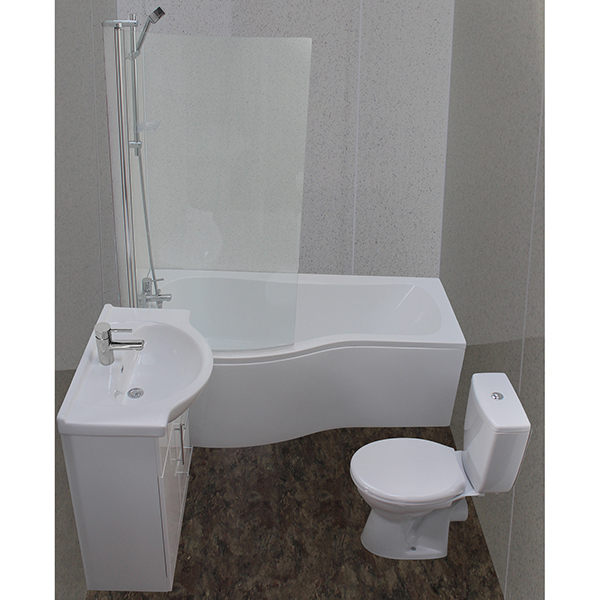 Allbits P Shape Bath Suite...