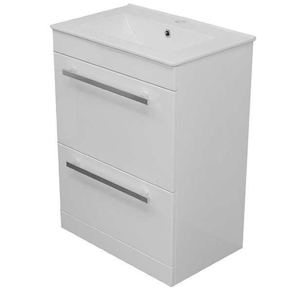 Allbits Purity 2 Drawer Floor Standing 600 Vanity Unit