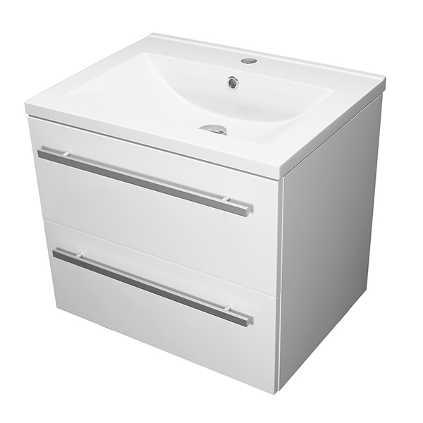 Allbits Purity 2 Drawer Wall Hung Unit and Basin