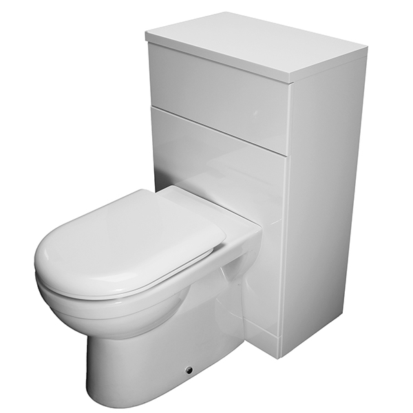 Allbits Turin 500 Back to Wall Unit and Toilet Suite Set