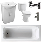 Allbits Eden Bathroom Suite with 550 Vanity Unit