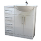 Allbits Eden White Gloss Combination 550 Vanity Unit & 4 Drawer Unit with Tap