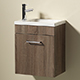 Allbits Eden 40 Wall Hung Vanity Unit & Basin with Tap - Walnut