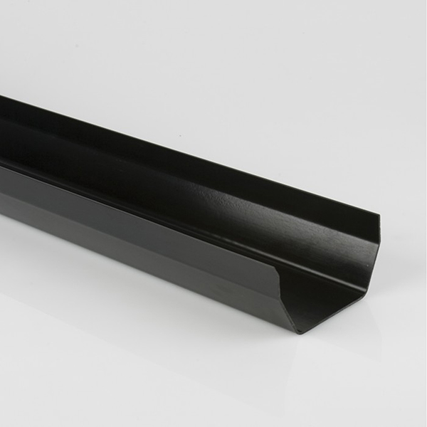114mm Squarestyle Gutter 2m Black