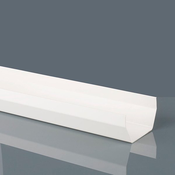 114mm Squarestyle Gutter 2m White