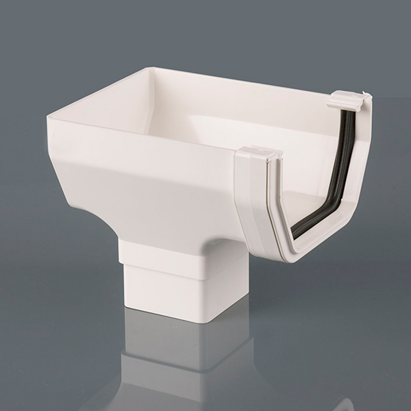 Stopend Outlet 114mm Squarestyle White