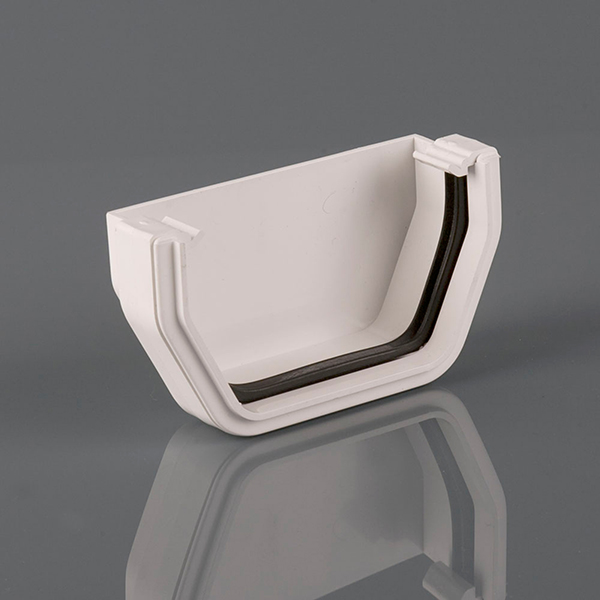 External Stopend 114mm Squarestyle White