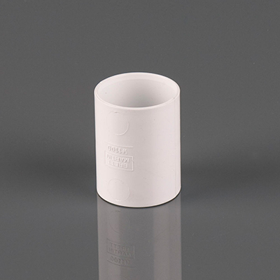 32mm Solvent Weld Straight Connector White