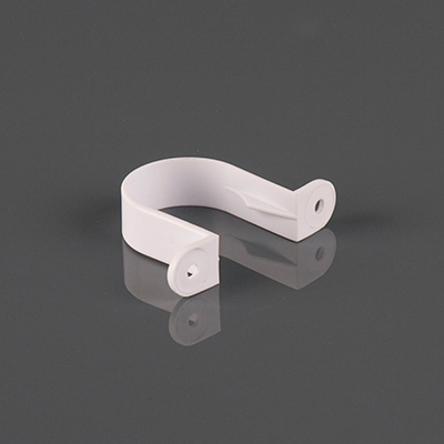 40mm Pipe Clip White. Pack of 10