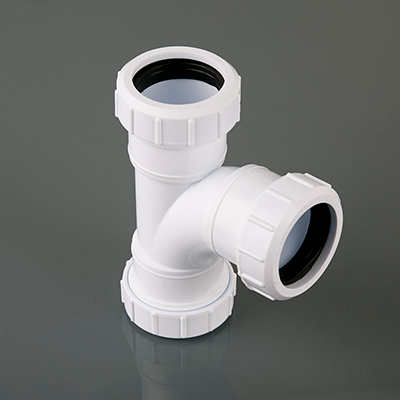92.5 Deg Universal Compression Swept Tee 40mm