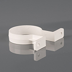 68mm Round Downpipe Bracket White