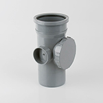 110mm Single Socket Access Pipe Grey