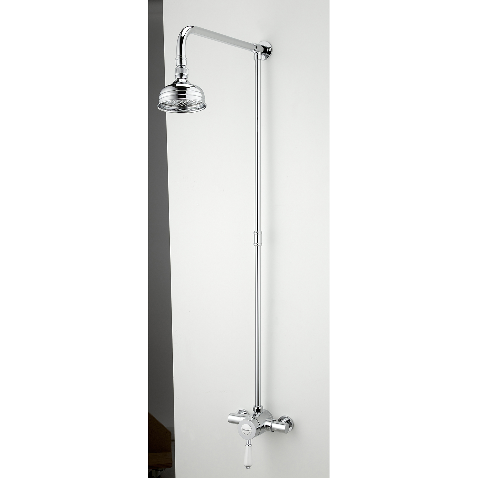 bristan colonial 2 thermostatic shower valve with rigid riser zoom