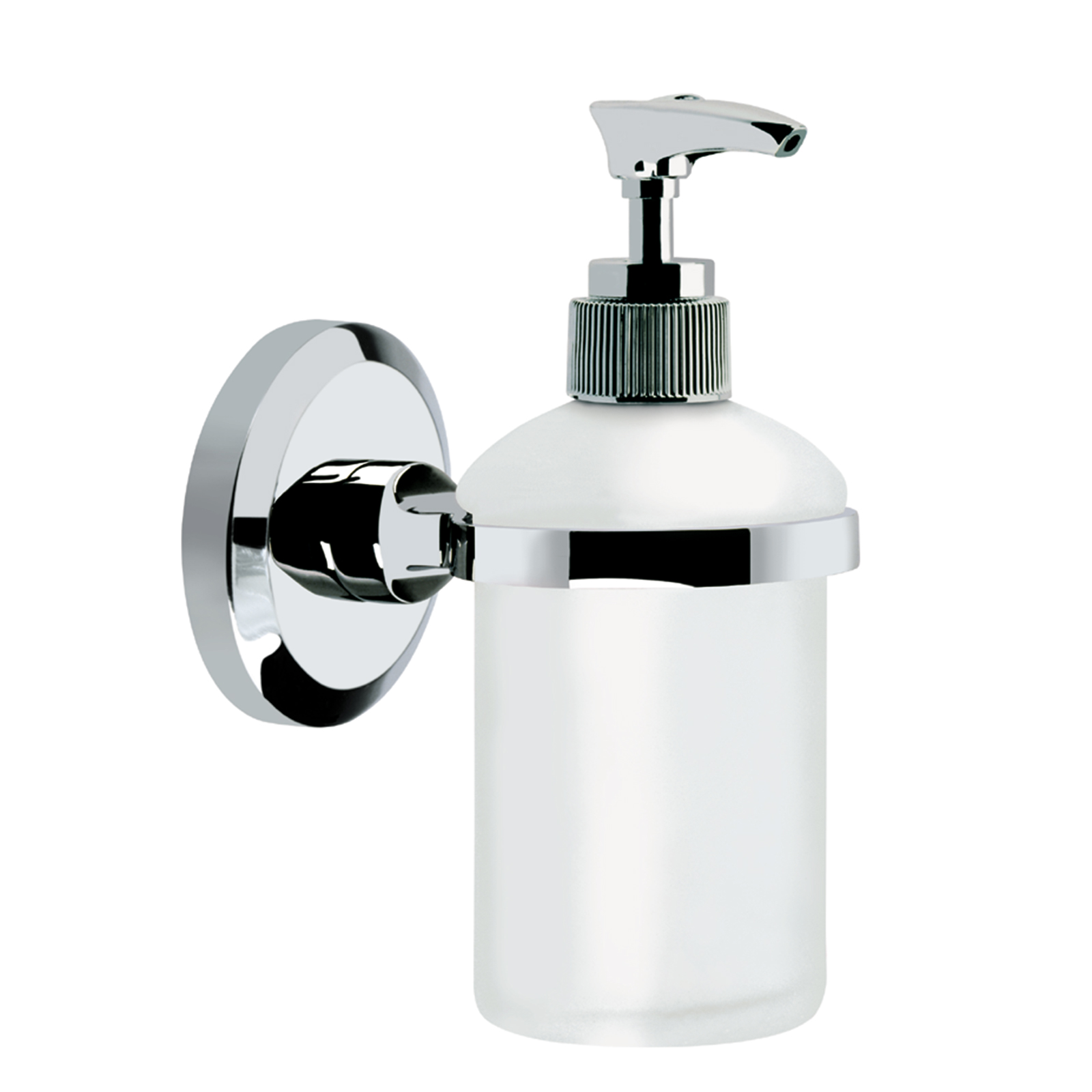 Glass bathroom soap dispenser - Bristan Solo Wall Mounted Frosted Glass Soap Dispenser