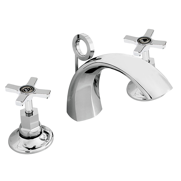 Bristan Art Deco 3 Hole Basin Mixer With Pop Up Waste