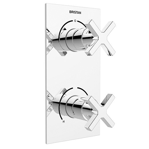 Bristan Cascade Recessed Shower with Integral Two Outlet Diverter