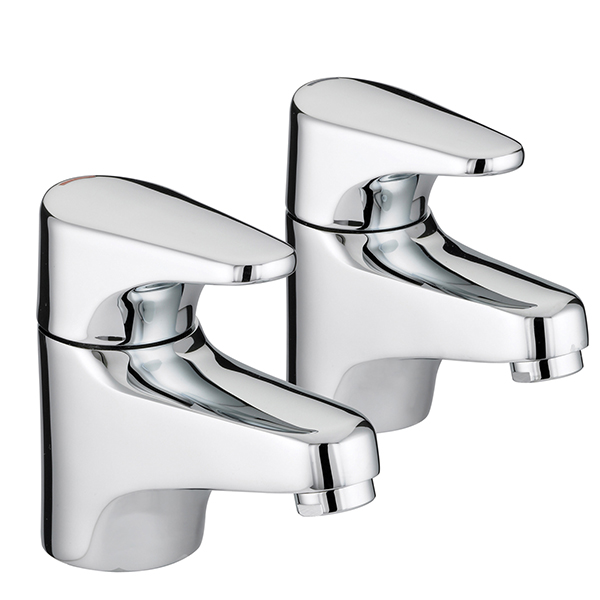 Bristan Jute Bath Taps Chrome Plated