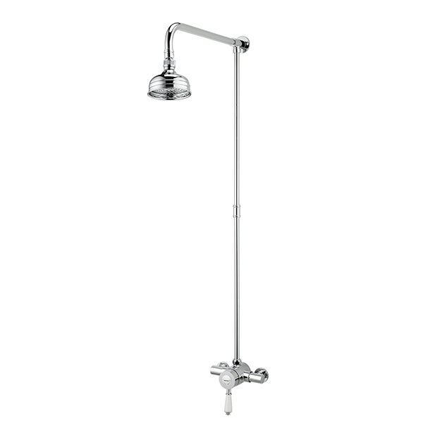 Bristan Colonial 2 Thermostatic Shower Valve with Rigid Riser
