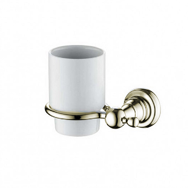 Bristan 1901 Toothbrush & Tumbler Holder Gold