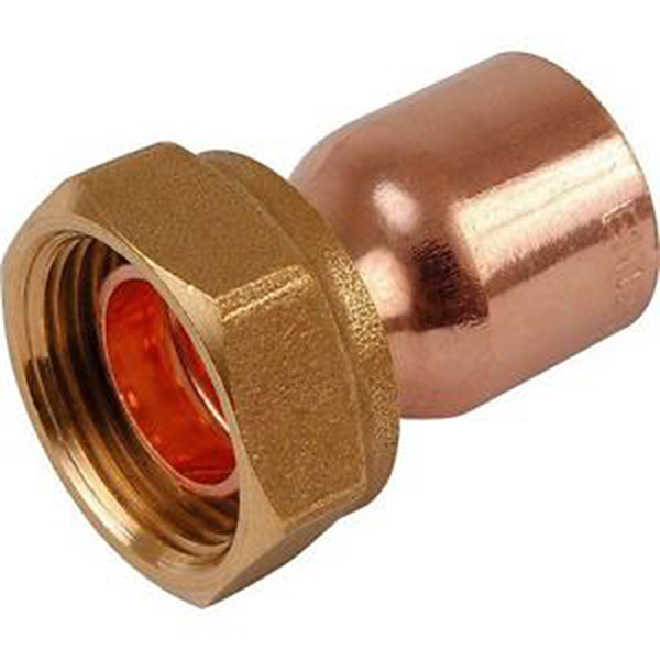 "15mm x 1/2"" End Feed Straight Tap Connector"