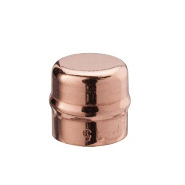 22mm Solder Ring Stopend 2 Pack