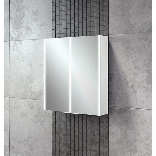 Xenon 60 LED Aluminium Cabinet with Mirrored Sides