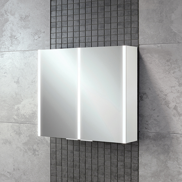 Xenon 80 LED Aluminium Cabinet with Mirrored Sides