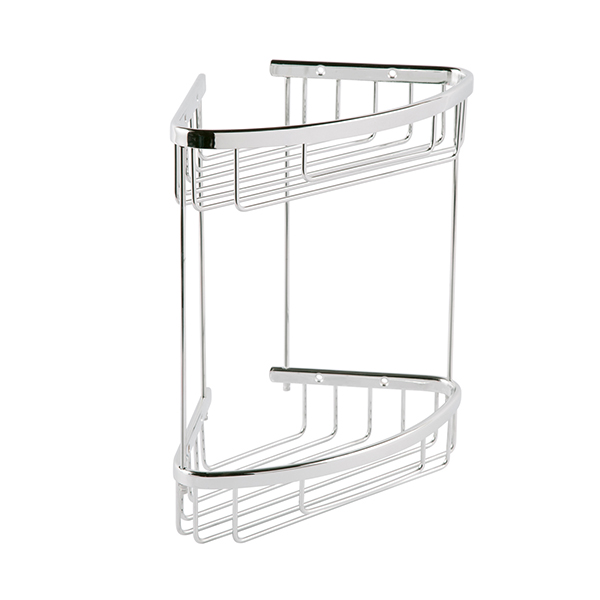 Twin Triangle Corner Shelf Basket