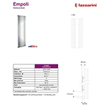 Empoli Mirror Radiator 600 X 1800mm - Chrome