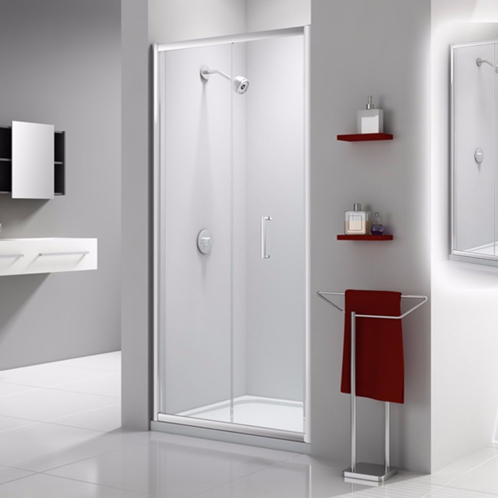 Merlyn Ionic Express Bifold Door Mm  At Allbits Plumbing - Express bathrooms