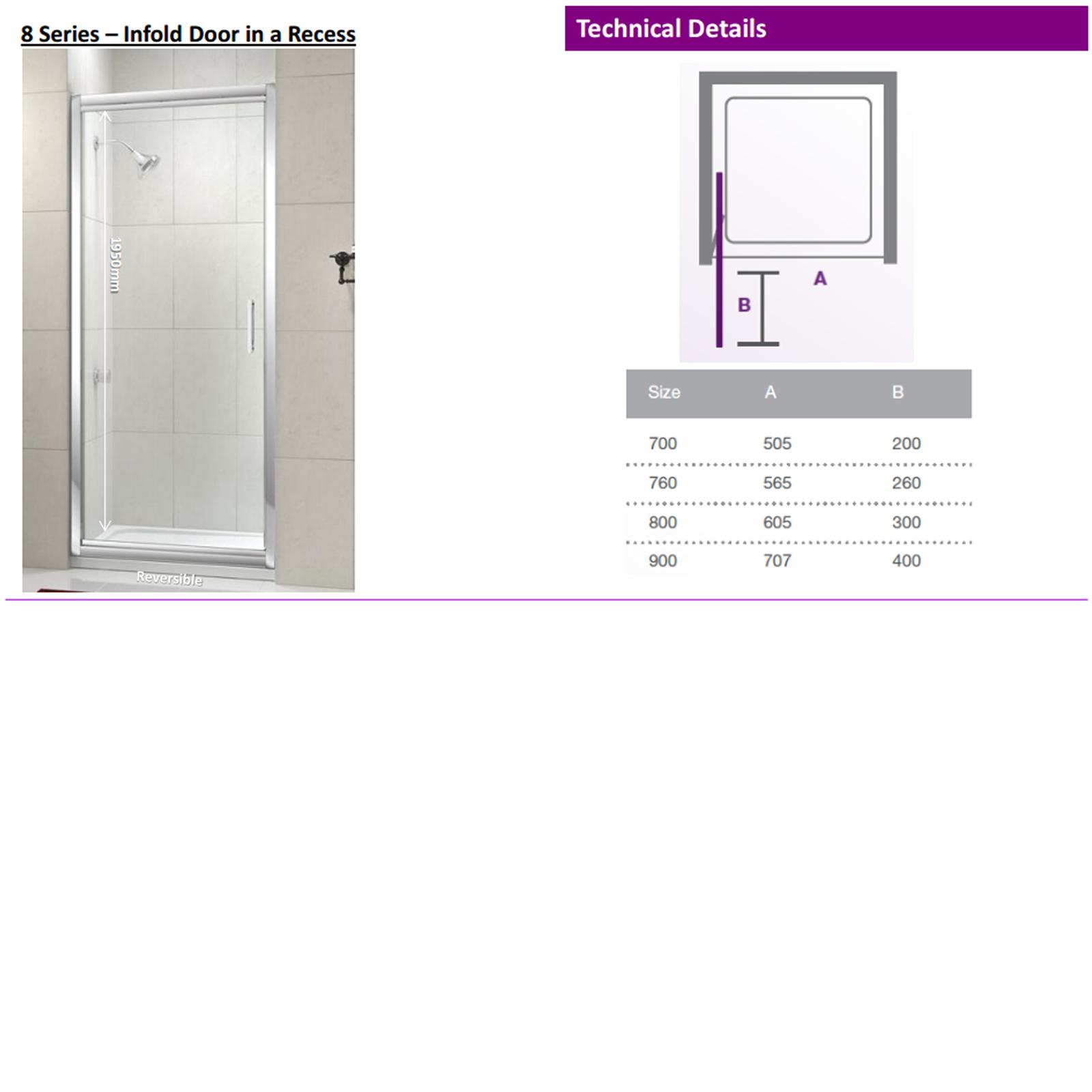 Merlyn series 8 infold door 1000mm at allbits for 1000mm door