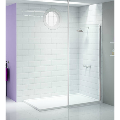 Merlyn Ionic Showerwall with Vertical Panel 400mm