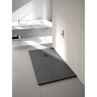 Merlyn Truestone Fossil Grey Rectangular 1000 x 800 Shower Tray