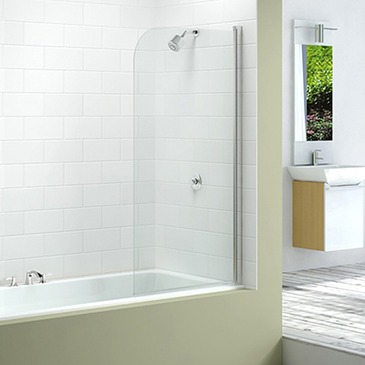 Merlyn Single Curved Bath Screen